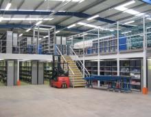 Storage Mezzanine Floor c/w Shelving