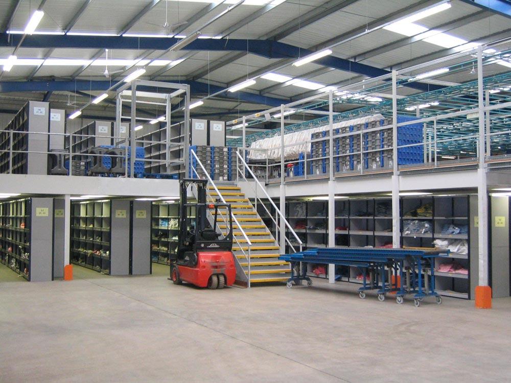 Fire Rated Storage Mezzanine Floor; Storage Mezzanine Floor C/w Shelving ...