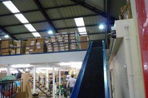 Storage Mezzanine Floor With Conveyor