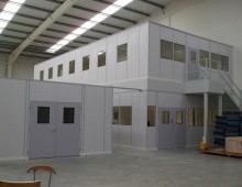 Two Tier Double Skin Steel Partitioning