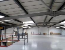 Storage Mezzanine c/w Painted Decking