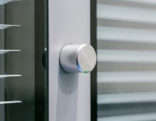 Steel Partitioning door locking detail