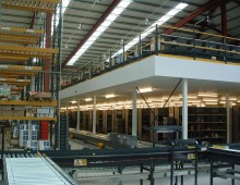 Mezzanine Floor Used For Storage & Production in Wakefield