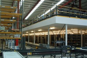 Mezzanine Floor Used For Storage & Production in Wakefield