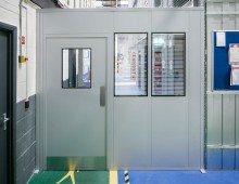 Double skin steel partition wall