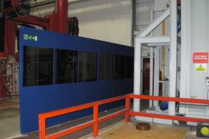 Single Skin Steel Partition with Barrier