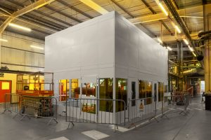 Single Skin Steel Partitioning to House Machines