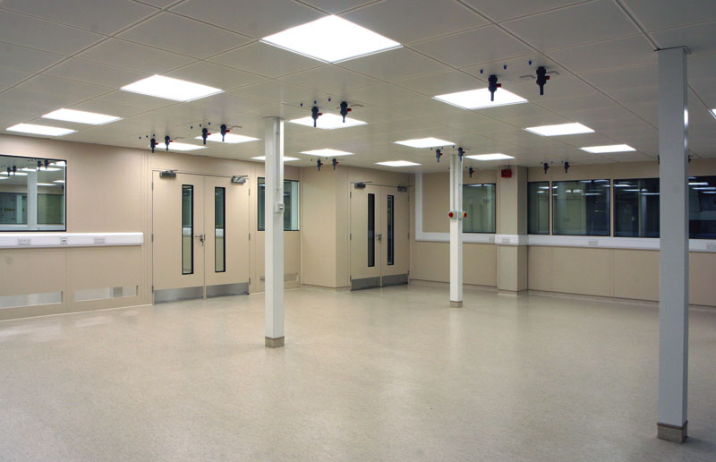 clean room steel partitions and partitioning