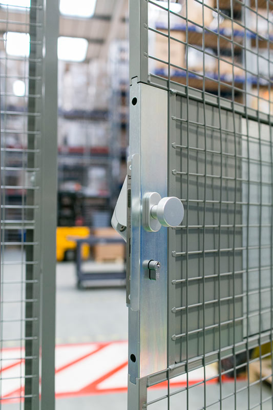 security lock on mesh partition