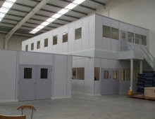 Split level office mezzanine floor