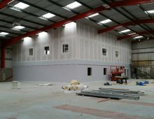 Office Mezzanine Floor Work in Progress