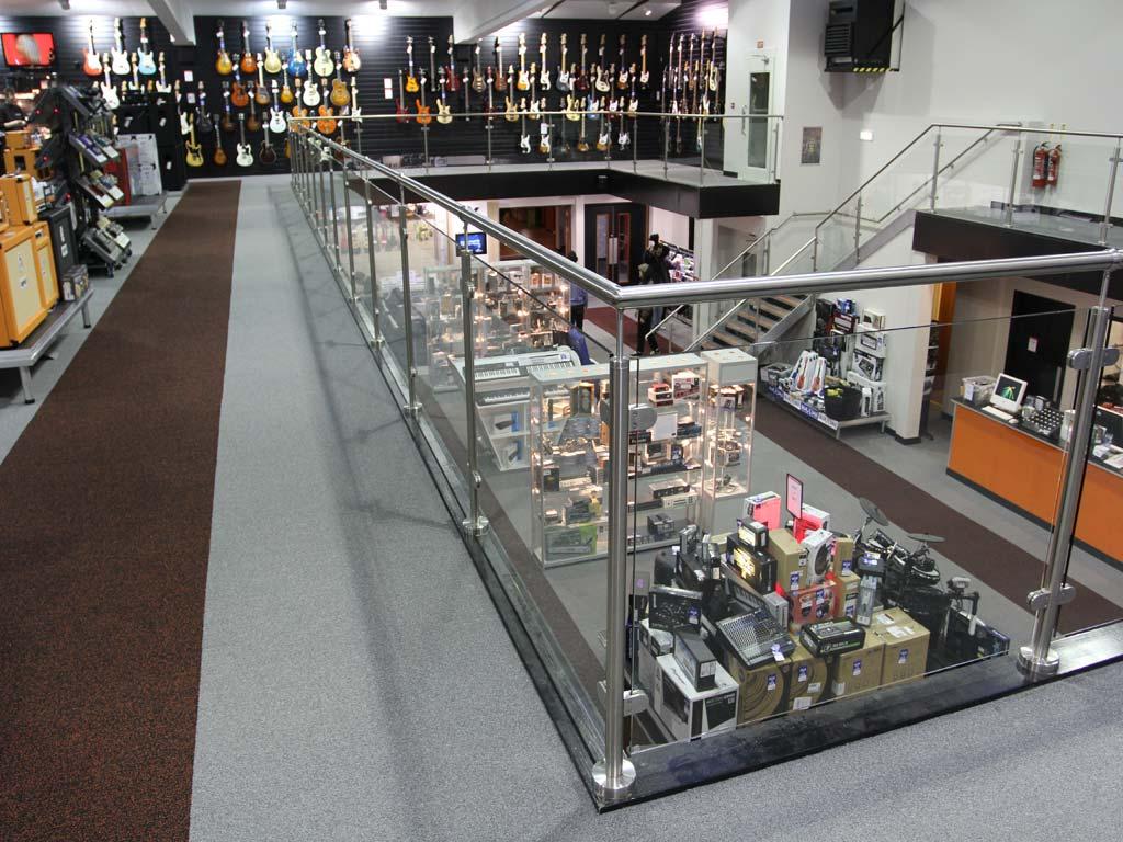 Retail Mezzanine Floor For Music Retailer