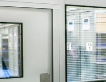 windows in steel partition