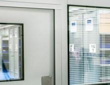 windows in steel partition