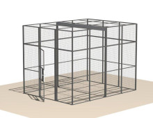Mesh Partitioning to create mesh Cage