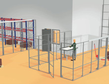 Mesh Partitioning to Create Segregated Work Area