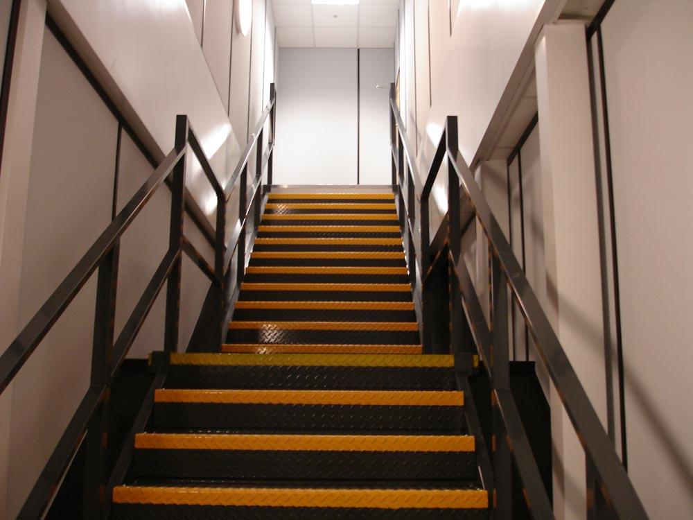 Part M Mezzanine Floor Staircase With Mid Landing