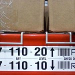 Pallet racking indentification labels