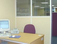 600 Series Office Partitions with glazed panel