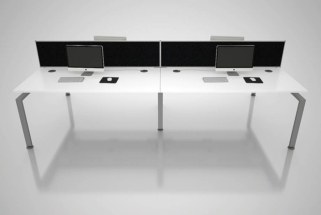 Office Desking with screens
