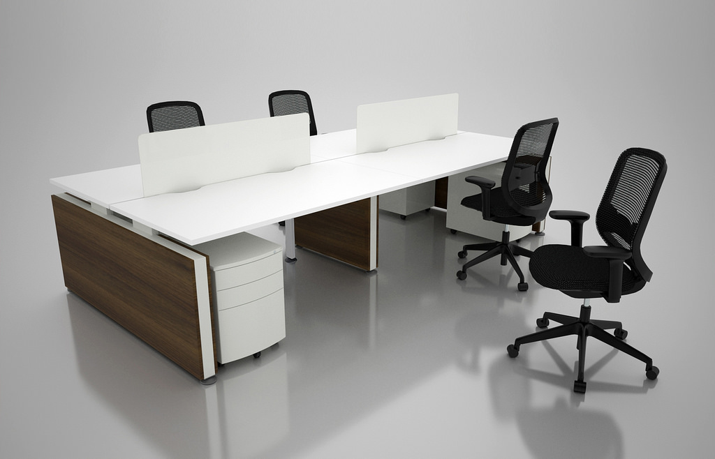 Bench office desking system