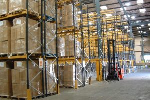 Pallet Racking Install c/w Steel Upright Protectors