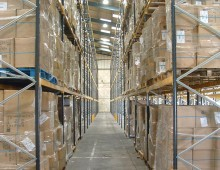 Narrow Aisle Pallet Racking c/w Upright Protectors