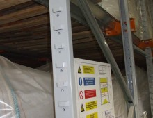 Drive in Pallet Racking with load notice