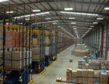 Large Scale Double Deep Racking Installation