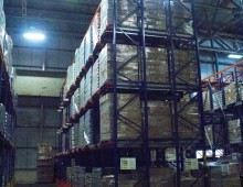 Tall drive in pallet racking