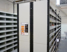 Retail Warehouse Euro Shelving For Bagged Garments
