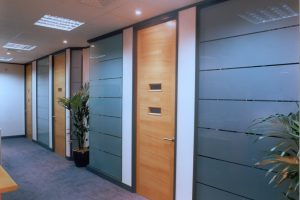 Komfire Office Partitions Glazed With Doors