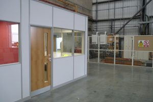 Warehouse Office Suite Built With Komfire Office Partitions