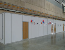 Warehouse Office Built With Komfire Partitions