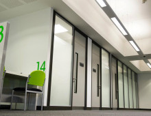 Polar Glass and Komfire Office Partitions