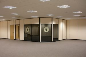 Komfire Office Partitions With Corporate Identity