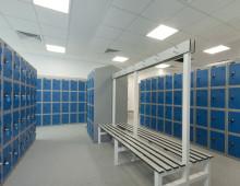 Locker Room Installation c/w Bench Seating