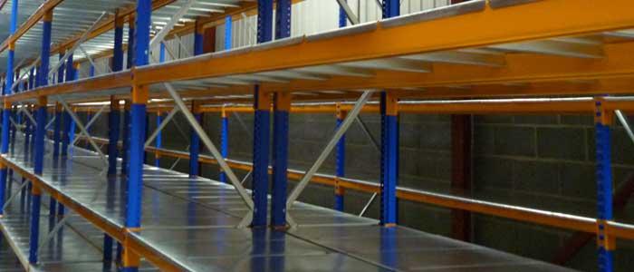 Longspan Shelving With Galvanised Decks
