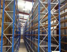 High longspan shelving installation