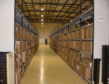 Longspan shelving for box storage