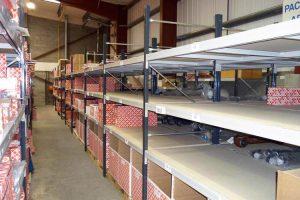 Longspan Shelving to store automotive parts