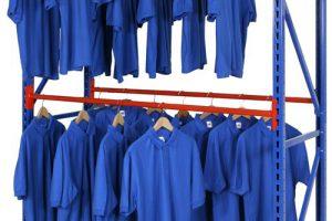Longspan Stockroom Shelving with Garment Hanging Rail