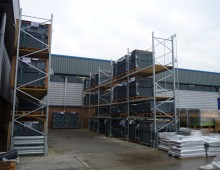 External Galvanised Pallet Racking