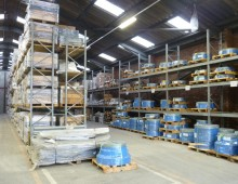 large pallet racking installation
