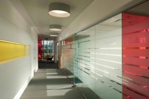 Polar Glass Office Partitions with Full Height Doors