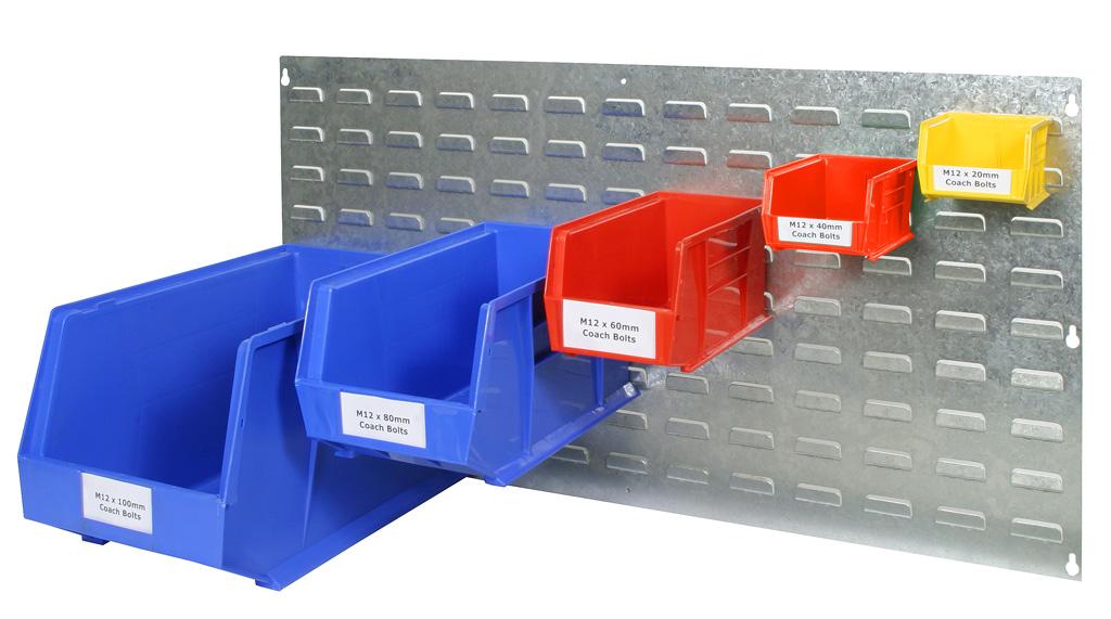 Tool Storage Bins Raaco Tool Board With 12 Storage Bins