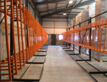 Vertical Racking Installation Prior to Loading