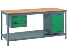 Steel Framed, Timber Worktop Workbench