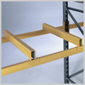 Fork spacer for pallet racking