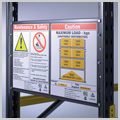 Pallet racking load notices
